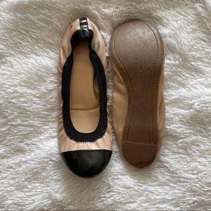 J. Crew Mila Cap Toe Leather Ballet Flats | Sz 9 ✨
